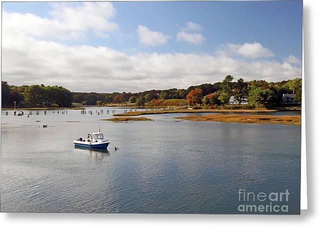 Cape Neddick Greeting Cards - Cape Neddick River Greeting Card by Steve  Gass