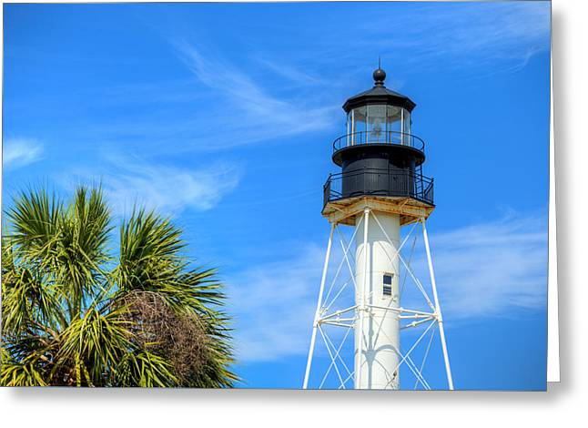 Cape San Blas Lighthouse Greeting Card by JC Findley