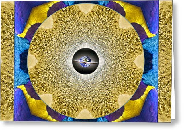 Purple Chakra Greeting Cards - Cape Song Greeting Card by Bell And Todd