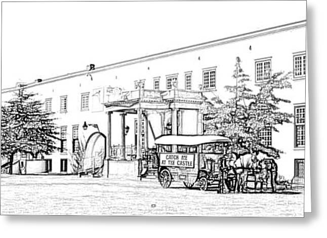 Cape Town Drawings Greeting Cards - Cape Town Castle Greeting Card by Gerald Crawford