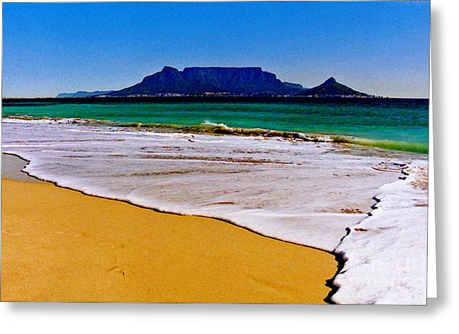 Ocean Panorama Greeting Cards - Cape Town South Africa Greeting Card by Jerome Stumphauzer