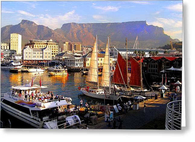 Cape Town Waterfront Greeting Card by Michael Durst