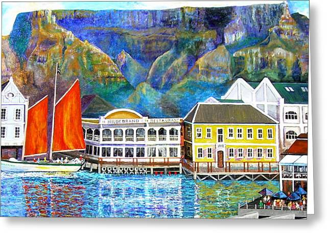 Cape Town Paintings Greeting Cards - Cape Waterfront Greeting Card by Michael Durst