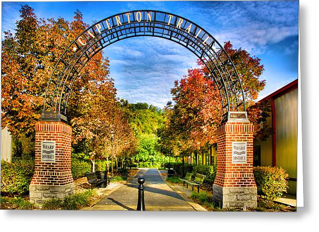 Entryway Greeting Cards - Caperton Trail Greeting Card by Steven Ainsworth