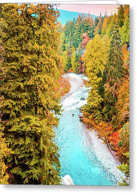 Capilano River, Vancouver Bc, Canada Greeting Card by Art Spectrum
