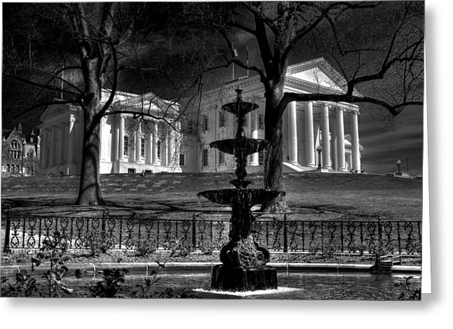 State Capital Greeting Cards - Capital Fountain Greeting Card by Tim Wilson