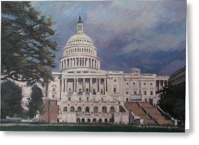 Capitol Building Greeting Card by German Zepeda
