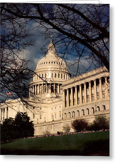 United States Capitol Greeting Cards - Capitol Building Greeting Card by Lauri Novak