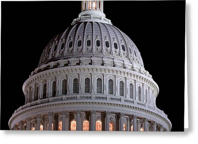 United States Capitol Dome Greeting Cards - Capitol Dome in Washington DC Greeting Card by Brendan Reals