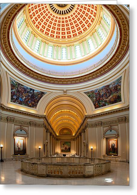 Capitol Interior II Greeting Card by Ricky Barnard