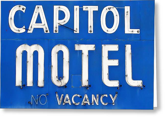 Capitol Sign Greeting Card by Todd Klassy