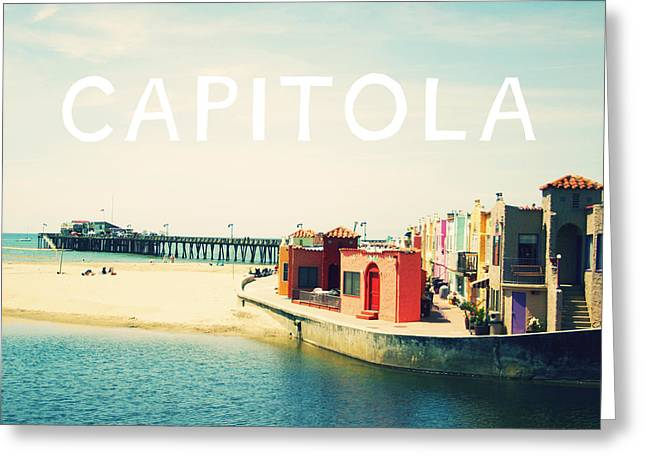 Photography Mixed Media Greeting Cards - Capitola Greeting Card by Linda Woods