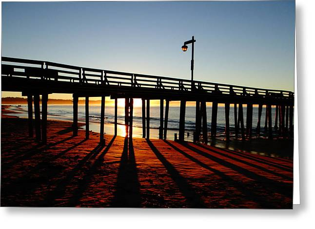 Capitola Greeting Cards - Capitola Sunrise Greeting Card by Brendan Hurley