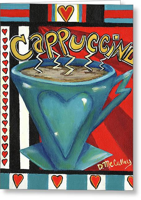 Cappucino Greeting Card by Debbie McCulley