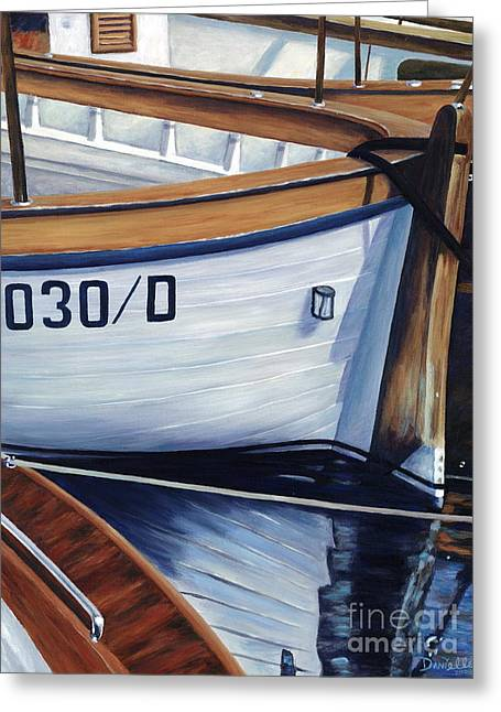 Danielle Perry Greeting Cards - Capri Boats Greeting Card by Danielle  Perry