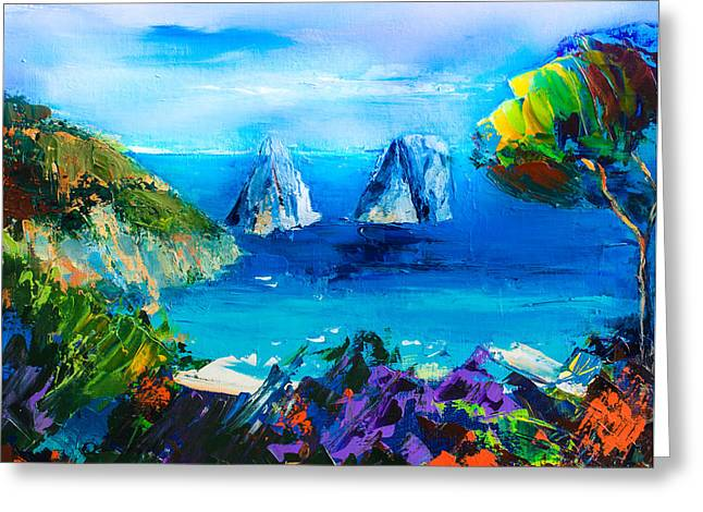 Capri Colors Greeting Card by Elise Palmigiani