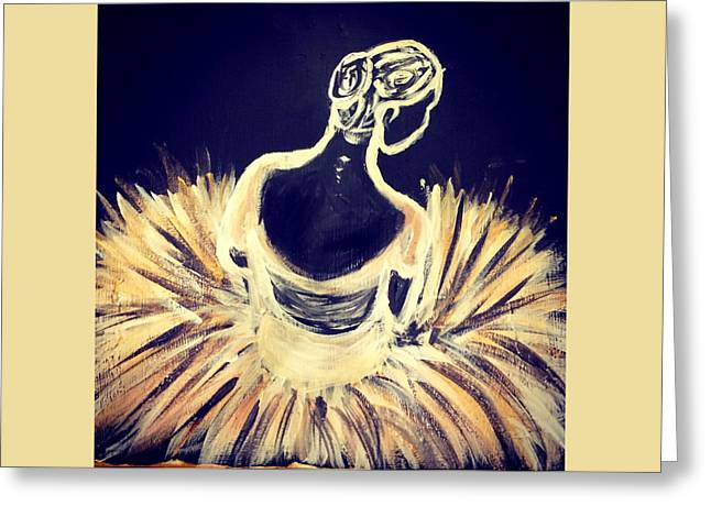Ballet Dancers Greeting Cards - Gilded Corphyee Greeting Card by Alyssa Tidmore