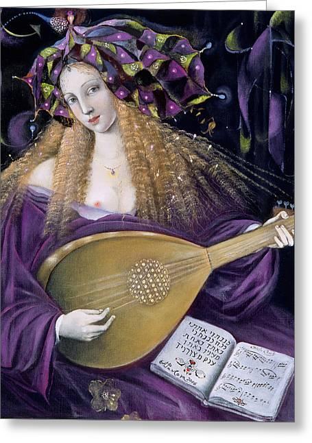 Capricorn Greeting Card by Annael Anelia Pavlova