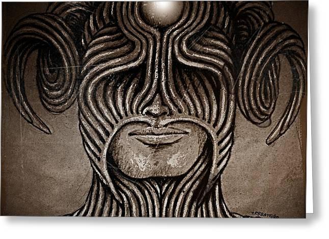 Capricornus Greeting Card by Paulo Zerbato