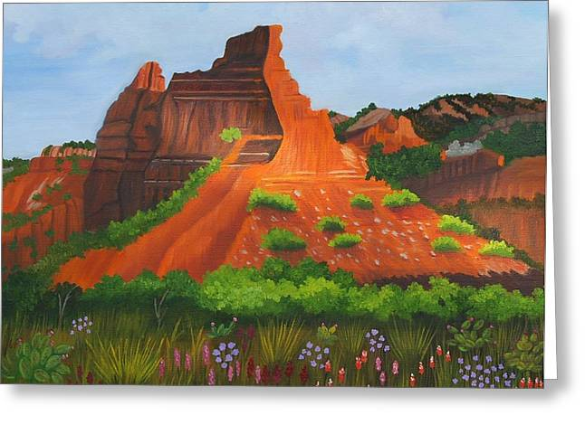 Caprock Canyon Texas Greeting Card by Ruth  Housley