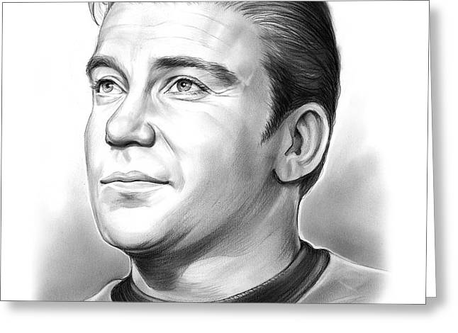 Capt. James T. Kirk Greeting Card by Greg Joens