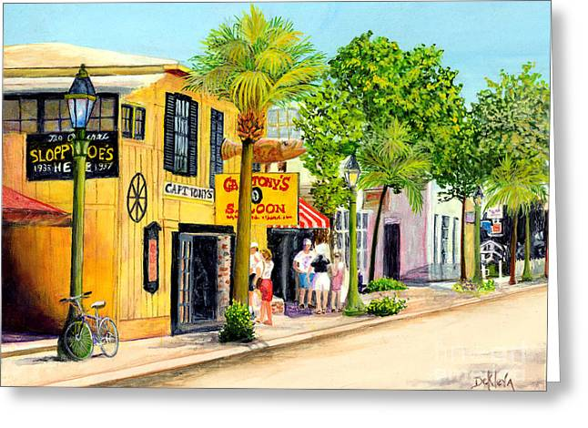 Peaceful Scene Greeting Cards - Capt. Tonys Key West Greeting Card by Joe DeKleva