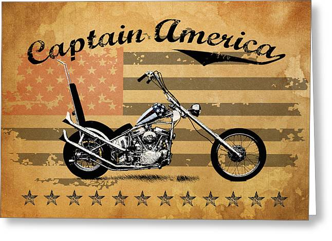 Captain America Photographs Greeting Cards - Captain America Greeting Card by Mark Rogan