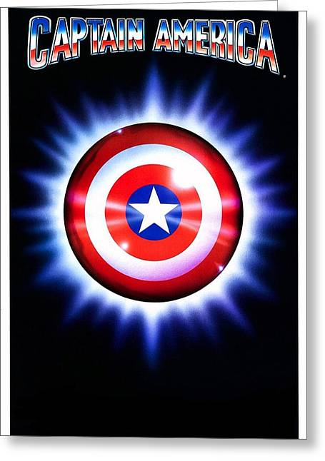 Motion Picture Poster Greeting Cards - Captain America  Greeting Card by Movie Poster Prints