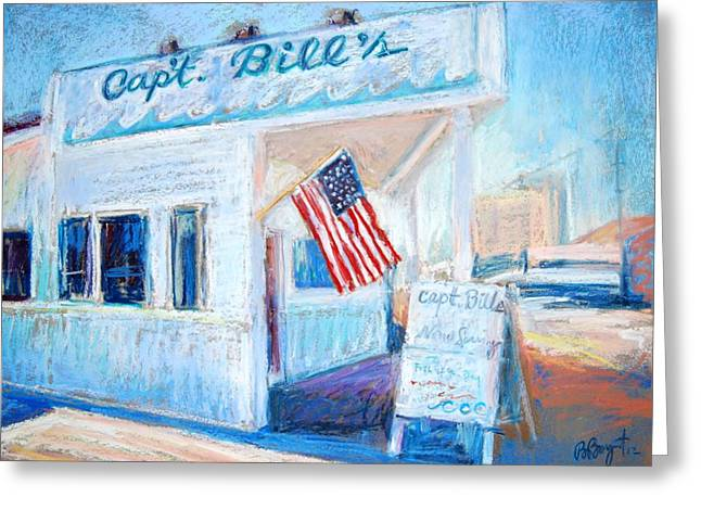 Usa Flag Pastels Greeting Cards - Captain Bills Greeting Card by Bethany Bryant