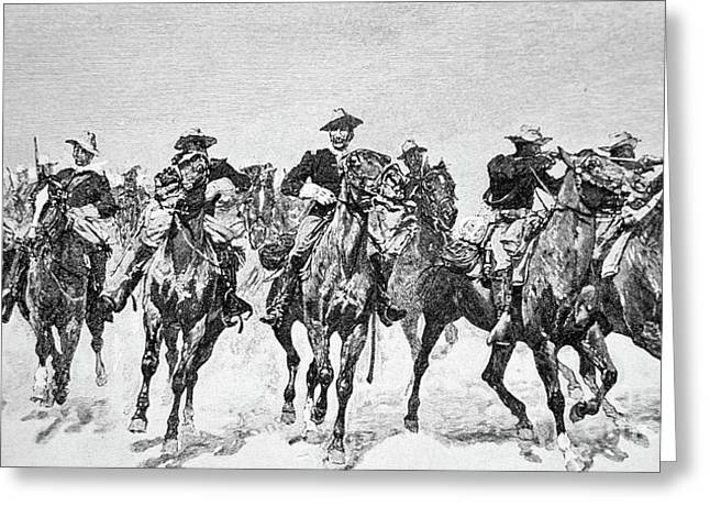 Captain Dodge's Troopers To The Rescue Greeting Card by Frederic Remington