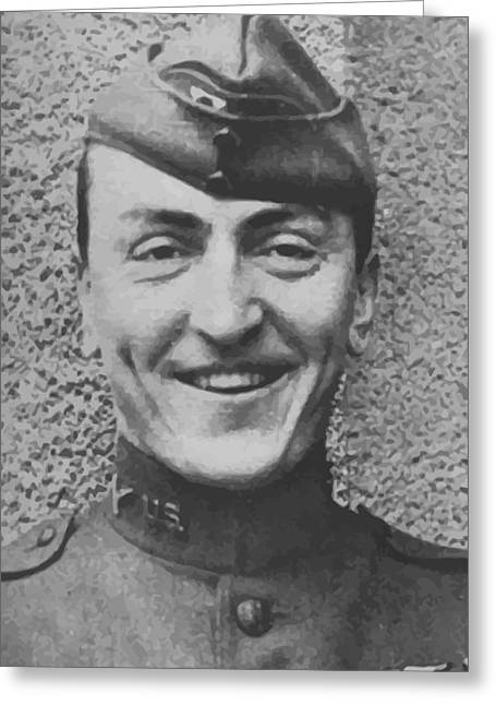 Us Army Air Corp Greeting Cards - Captain Eddie Rickenbacker Greeting Card by War Is Hell Store