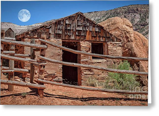 Captain Henry A. Smith's Cabin Greeting Card by Janice Rae Pariza