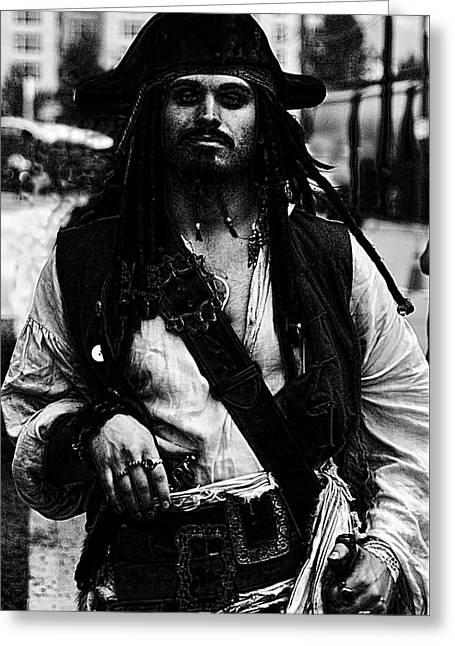 Captain Sparrow Greeting Cards - Captain Jack Greeting Card by David Patterson