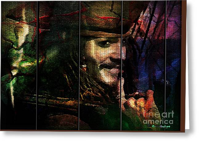 Captain Jack Sparrow Greeting Card by Christine Mayfield