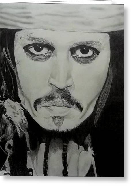 Captain Jack Sparrow Art Greeting Cards - Captain Jack Sparrow Greeting Card by Emily Canwell