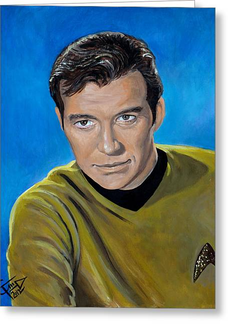 Captain Kirk Greeting Card by Tom Carlton