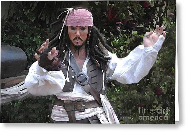 Captain Sparrow Greeting Cards - Captain Sparrow Greeting Card by David Lee Thompson