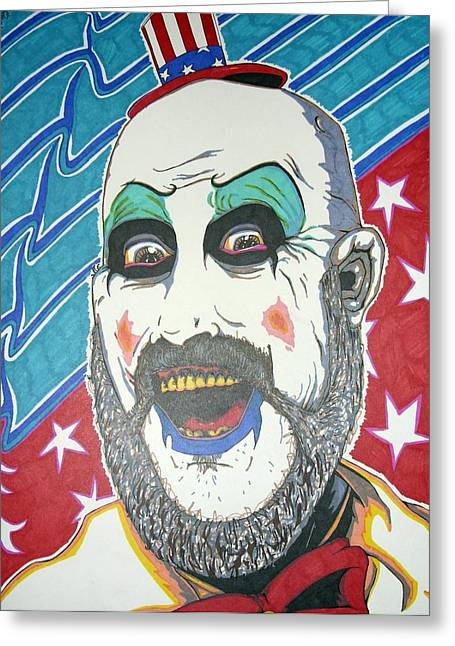 Captain America Greeting Cards - Captain Spaulding Greeting Card by Michael Toth