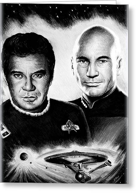 Captains Greeting Card by Andrew Read