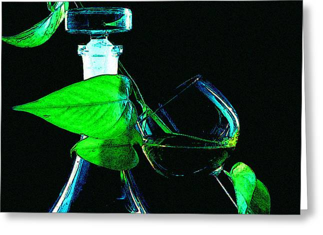 Decanters Digital Art Greeting Cards - Captains Decanter Greeting Card by Paul Wear