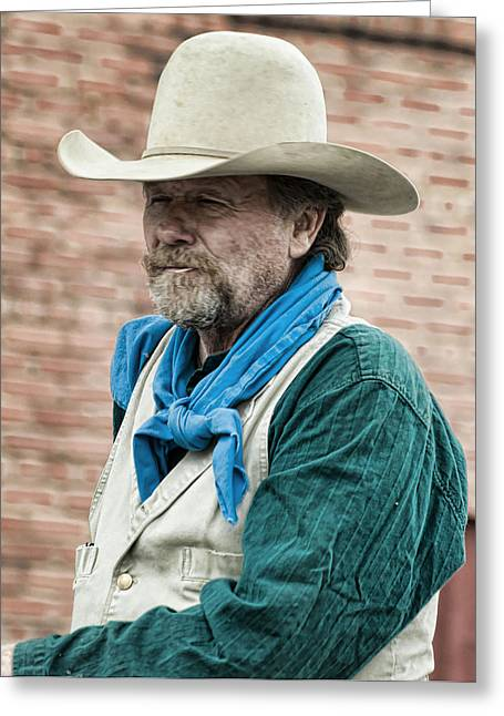 Lonesome Dove Greeting Cards - Captin Call Greeting Card by Katie Abrams