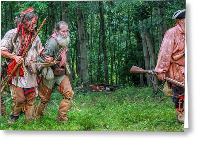 Powder Greeting Cards - Captives From the Battle Greeting Card by Randy Steele