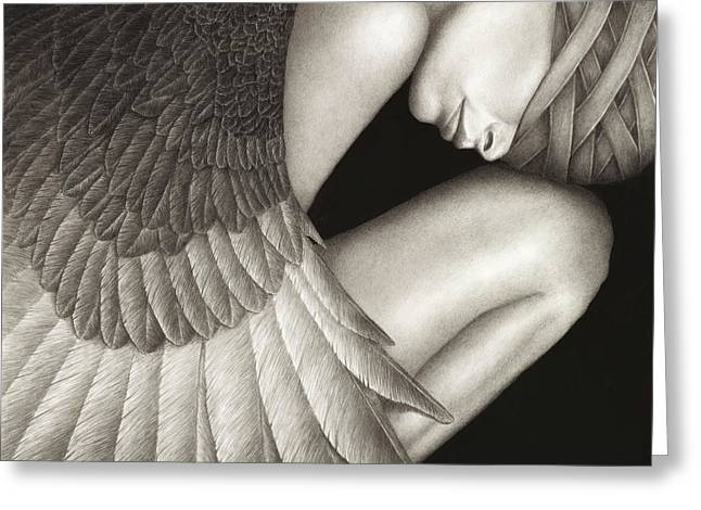 Wings Greeting Cards - Captivity Greeting Card by Pat Erickson