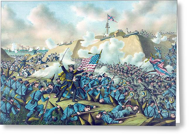 Capture Of Fort Fisher Greeting Card by American School