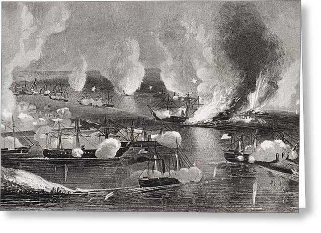 Engagement Picture Greeting Cards - Capture Of Forts Jackson And St Phillip Greeting Card by Ken Welsh