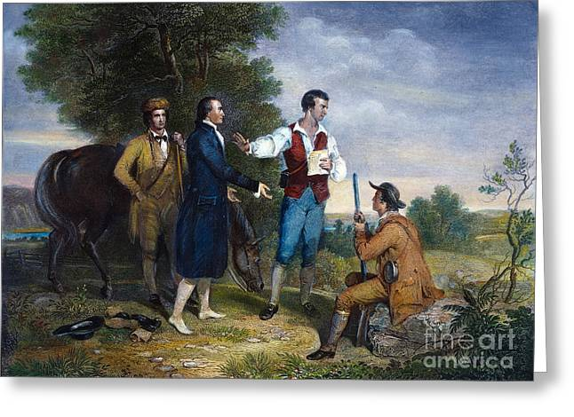 1780 Greeting Cards - Capture Of John Andre Greeting Card by Granger