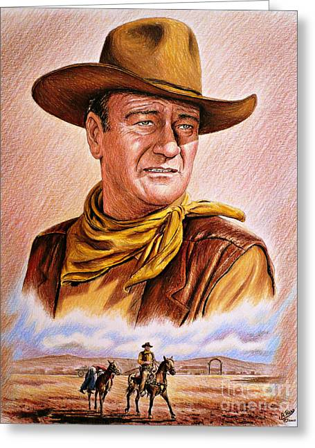 John Wayne Prints Greeting Cards - Captured Greeting Card by Andrew Read