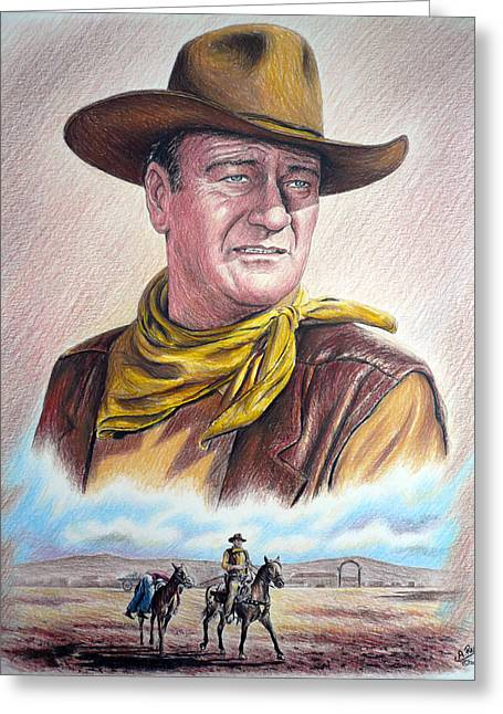 John Wayne Prints Greeting Cards - Captured color version 2 Greeting Card by Andrew Read
