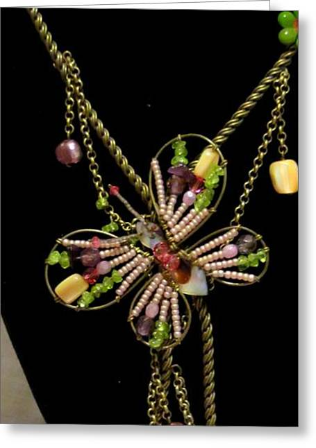 Wrap Jewelry Greeting Cards - Captured in Wire and Chain Greeting Card by Victoria Beasley
