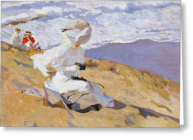 Camera Paintings Greeting Cards - Capturing the Moment Greeting Card by Joaquin Sorolla y Bastida